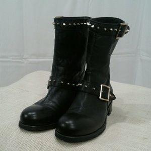 8ca47ccfcdc denmark jimmy choo shoes jimmy choo black leather studded boots sz 9 sz 40  ac850 504fd